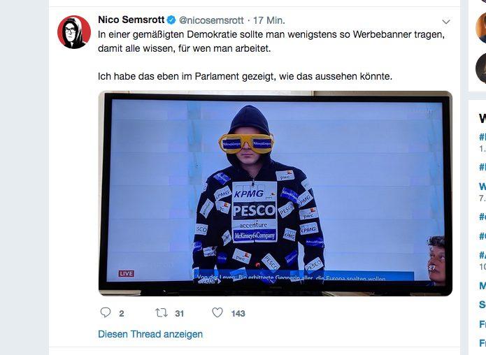 Nico Semsrott_Screenshot_Twitter_EU-Parlament