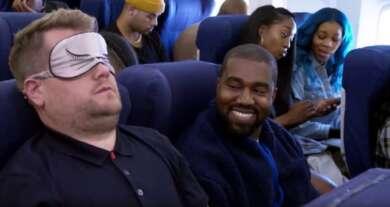 Kanye West und James Corden beim Airpool Karaoke
