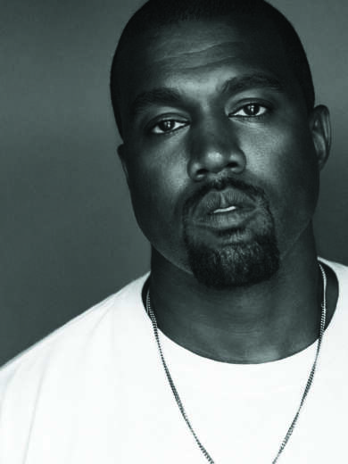 Kanye West weißes T-Shirt Kette