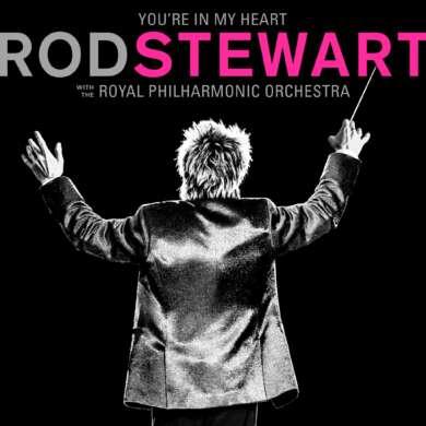 """Zu seinem 50. Jubiläum als Solokünstler legt Rod Stewart seine bekanntesten Hits noch einmal neu auf. Auf dem neuen Album """"You're in my Heart"""" erscheinen die Songs der Rock-Ikone in neuen, orchstralen Arrangements."""