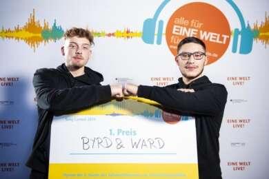 """Byrd & Ward gewinnen den """"Dein Song für EINE WELT"""" Contest"""