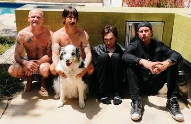 Damals noch mit altem Gitarristen unterwegs: Die Red Hot Chili Peppers mit Josh Klinghoffer (zweiter von rechts).