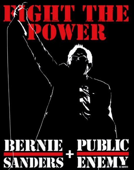 Bernie Sanders Rally Poster feat. Public Enemy