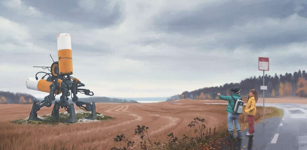 """Sci-Fi-Highlights des Sommers: Fotos aus """"Tales from the Loop"""" von Simon Stålenhag"""