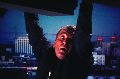 """James Stewart in Alfred Hitchcocks """"Vertigo"""""""