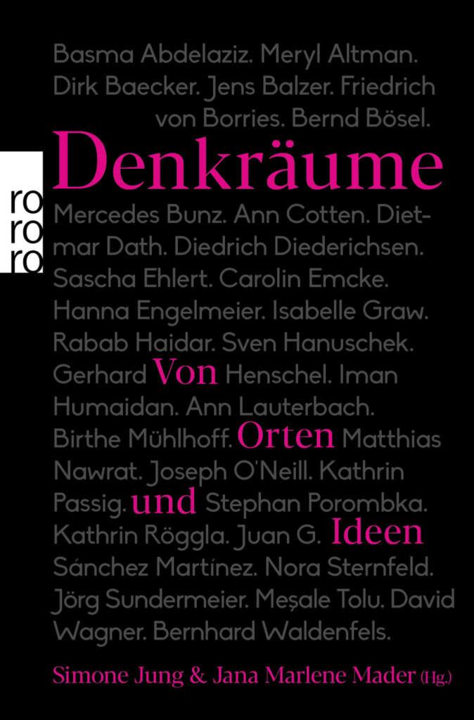 "Buchcover Simone Jung & Jana Marlene Hader ""Denkräume"""