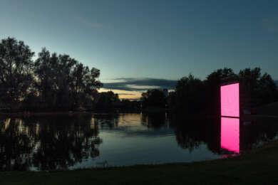 Ulf Langheinrich, »OSC-K«, 2020.Seasons of Media Arts 2020 Audiovisuelle Lichtskulptur © Ulf Langheinrich, Foto: Elias Siebert