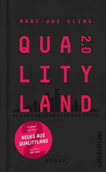 """Buchcover """"QualityLand 2.0: Kikis Geheimnis"""" von Marc Uwe Kling"""