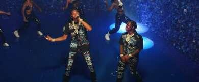 """Lil Baby und 42 Dugg performen """"We paid"""" zur Eröffnung der BET HipHop Awards 2020."""