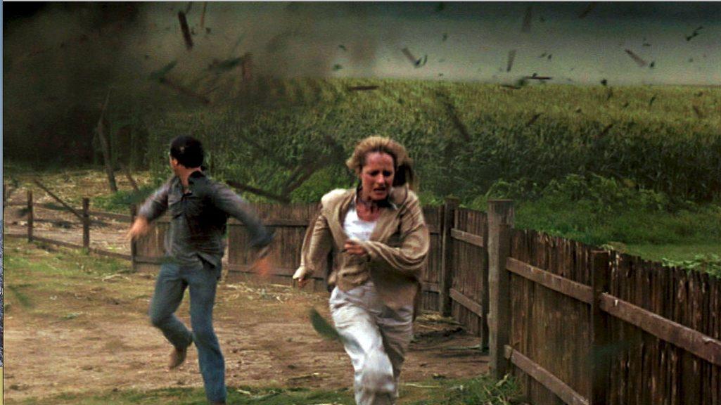 """Bill Paxton und Helen Hunt in """"Twister"""""""