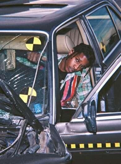 A$AP Rocky in einem Auto