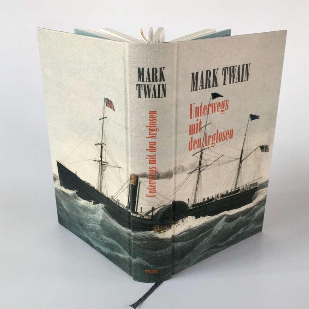 """Buchcover """"Unterwegs mit den Arglosen"""" von Mark Twain"""