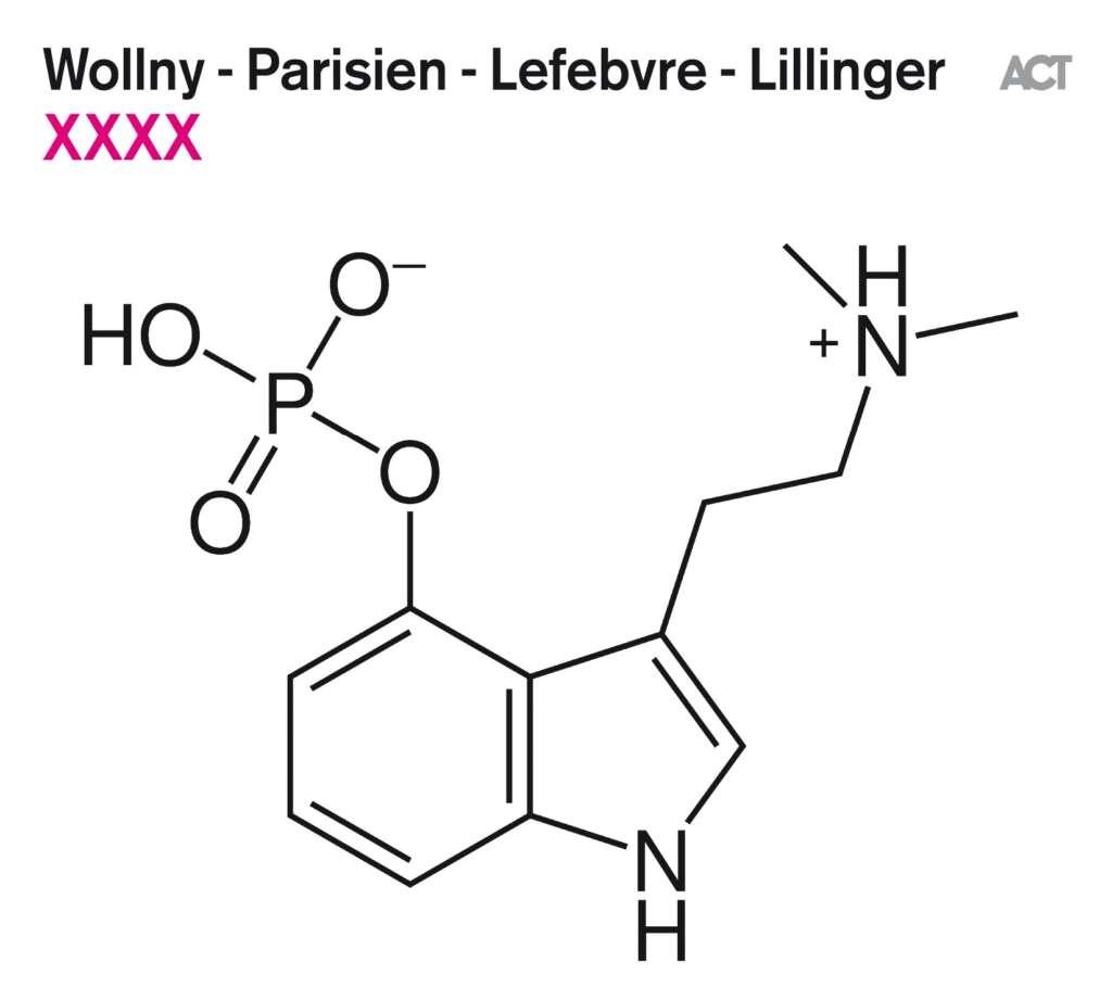 """Plattencover """"XXXX"""" von Wollny – Parisien – Lefebvre – Lillinger"""