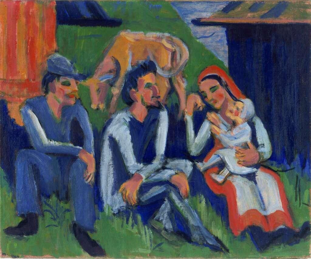 Kirchner, Ernst Ludwig_Rastende Bauernfamilieam_um 1922_Museum