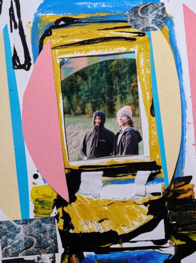 Big Red Machine Collage-Portraitfoto Aaron Dessner und Justin Vernon