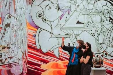 """Berlin Global im Humboldt Forum: Detailansicht aus Raum """"Weltdenken"""""""