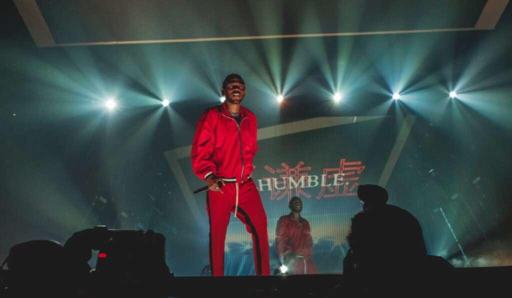 Kendrick Lamar bei der DAMN. Tour auf der Bühne 2017