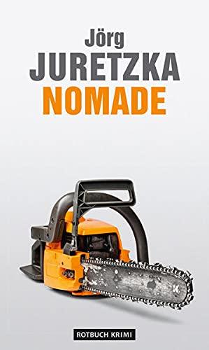 """Buchcover """"Nomade"""" von Jörg Juretzka mit Kreissäge"""